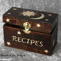 Celestial Recipe box by breathofthedragon on Zibbet