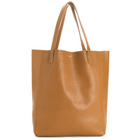 THE PERFECT LEATHER TOTE 'ALPHA' CARAMEL