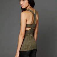 Free People Y-Back Seamless Cami - Available in Olive, Black, and Cherry