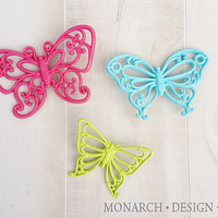 Bright Fun Colorful Wall Butterflies - Nursery Little Girl Teen Bedroom Decor