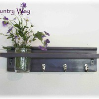 Primitive Country Deep  Grape Purple Wood Shabby by ACOUNTRYWAY