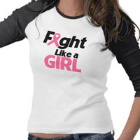 Breast Cancer Fight Like a Girl T Shirt from Zazzle.com