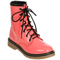 Patent Leather Combat Boot | Shop Just Arrived at Wet Seal