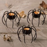 Spider Tealight Holders, Set of 3 from Through the Country Door