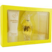 L`air Du Temps By Nina Ricci For Women. Set-edt Spray 3.3 Ounces & Body Lotion 3.3 Ounces & Shower...