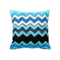 ocean chevron pillows from Zazzle.com