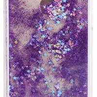 GLITTER VIOLET WATERFALL IPHONE CASE