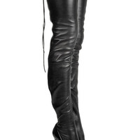 Christian Louboutin Unique 140 leather boots - &amp;#36;290.00