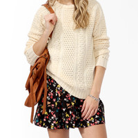 Longline Mixed Knit Sweater