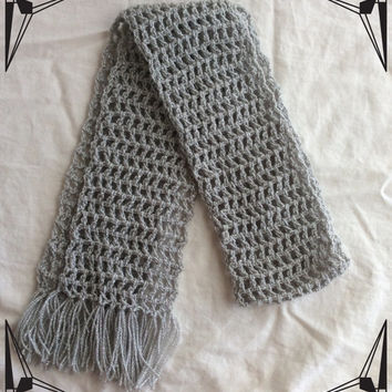 Trendy Women's scarf, fashion scarf, crocheted scarf, spring wear for women, glamour yarn scarf