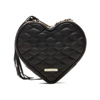 Rebecca Minkoff Heart Crossbody in Black