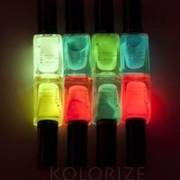 Nabi Nail Polish - 8 New Glow in the Dark Lacquer Set