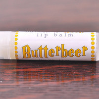 Butterbeer Lip Balm  - natural - butterscotch and vanilla, wizardry