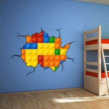Lego Wall Decal for Housewares - 39.4 X 26 Inches (Small Format)