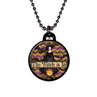 Halloween The Witch is In Woman Necklace