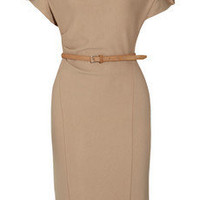 Donna Karan | Belted stretch wool-blend dress | NET-A-PORTER.COM