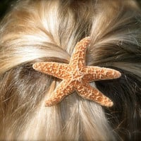 Starfish Barrette or Hair Clip-Mermaid Costume, Little Mermaid, Sugar Starfish, Mermaid Hair, Beach Weddings, Destination Weddings, Ocean