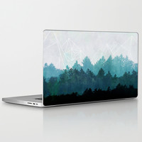 Woods Abstract Laptop & iPad Skin by Mareike Böhmer Graphics