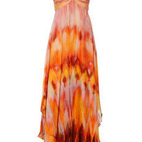Mikael Aghal Tie-dye chiffon gown - 65% Off Now at THE OUTNET