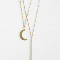 ModCloth Cosmic Wane or Shine Necklace