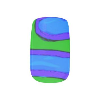 Green and Blue Nail Stickers