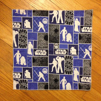 Star Wars Everyday Cloth Napkin Blue Boxes
