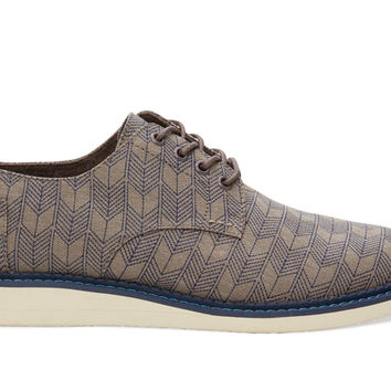 Grey Sashiko Men's Brogues