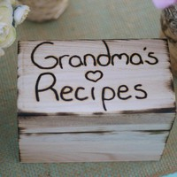 Personalized Recipe Box Engraved With Your Name by braggingbags