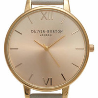 **Olivia Burton Big Dial Grey and Gold Watch - Watches - Bags & Accessories