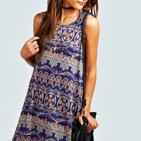 Leanne Paisley Swing Dress