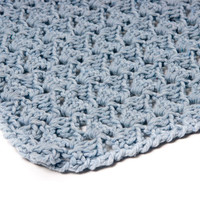 Personalized baby blanket - Blue Baby Blanket - Crochet Baby Blanket - Handmade Baby Blanket