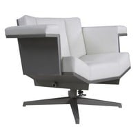 Armchair Deluxe, Steel with dark Grey Canvas - Office + Storage