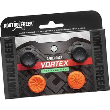 KontrolFreek - GamerPack Vortex Analog Stick Extenders for Xbox One - Black/Orange
