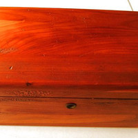 Vintage Lane Cedar Chest Trinket Box Or Saleman Sample