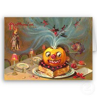 The Halloween Cake Greeting Card from Zazzle.com