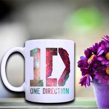 one direction art for white mug made by melepasmu