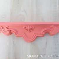 Wall Shelf - Vintage Ornate Coral Shabby Chic Design