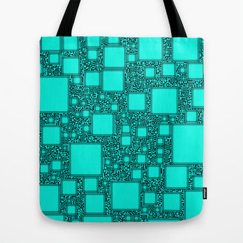 Electronics Blue Tote Bag by Alice Gosling