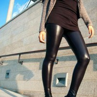Rihana wet look leggings [Leggings,Tights,Bottoms,Pants]
