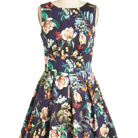 Closet Mid-length Sleeveless Fit & Flare Ain't We Haute Fun? Dress in Garden