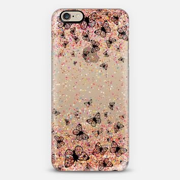 Black Butterflies and Colorful Sparkles Burst iPhone 6 case by Organic Saturation | Casetify