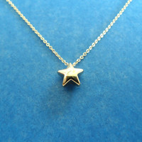 little star charm goldfilled necklace