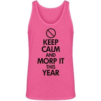 Keep Calm Morp Prom Neon Pink Tank Top for guys and girls