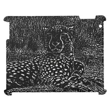 Cheetah Drawing iPad Case