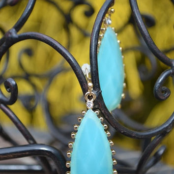 Color Burst Earrings In Turquoise