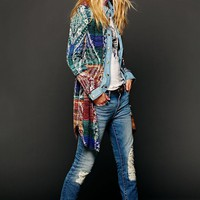 Free People Pattern Long Buttondown Sweater