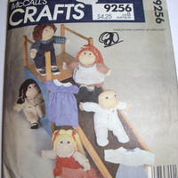 Vintage McCalls Craft Pattern Cabbage Patch doll clothes 16 inch and 18 inch dolls complete wardrobe 1984