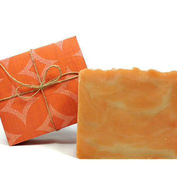 Large Orange Cupcake Soap, Handmade Soap, Vegan Soap, Dessert Soap, Gift under 10