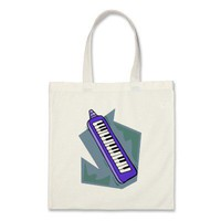 Blue Keytar portable 80s keyboard piano graphic Bag from Zazzle.com