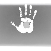 Hand Print Macbook Vinyl Decal by BengalWorks on Etsy